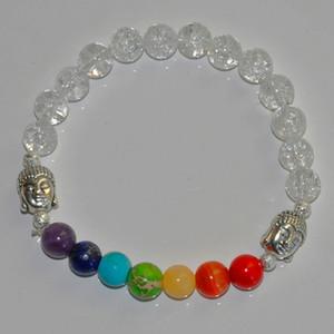 SN0223 Crystal Quartz stone Buddha Chakra power energy Bracelet reiki mala beads prayer spirituality mind body spirit bracelets