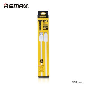 Original Remax TYPE-C Cable de datos USB USB 3.1 Salida 2.1A Transferencia de datos de carga 1 metro Flexible Negro Color Whtie 30pcs hasta