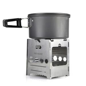 stufa multifunzionale portatile di campeggio esterna / ventilatori dell'esercito stufa di gas di legno / combinazione di legno stufa di legna portatile