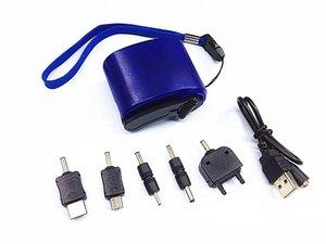 SURVIVAL DYNAMO MANIVELLE DE CHARGEUR DE CELLPHONE USB D'URGENCE AVEC LED ROUGE