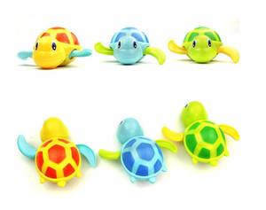Sevimli Karikatür Hayvan Bebek Banyo Oyuncakları Yüzme Kaplumbağa Yara-up Zincir Clockwork Çocuk Klasik Oyuncak Çocuk Hediye Plastik Oyuncaklar