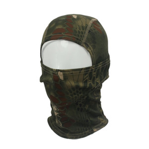 Wholesale-2015 New  Camouflage Army Cycling Motorcycle Cap Balaclava Winter Warm Sport Swordplay Hats Full Face Mask Free Shipping