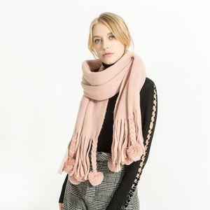 wholesale Hot sale New 2017 Women's Winter Blanket scarf ChashmereTassel ball Scarf Pashmina