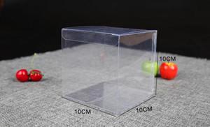 500 pezzi 10 * 10 * 10cm trasparente scatola in PVC regalo scatole per imballaggio torta e pacchetto scatola di plastica Natale vigilia mela / pacchetto di frutta