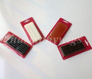 Eriyik tutkal 7mm x 100mm saç uzantıları için sopa / Fusion keratin tutkal çubukları / Keratin tahıl 4 renkler 12 adet / grup