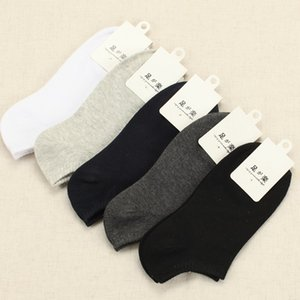 Wholesale-Socks Hot !!Summer&Spring&Autumn Women&Men's Sock 100% High Quality Cotton Socks Solid Color Socks Male Wholesale