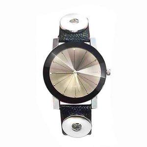 Top Hot Sale 005 Charm Bracelets Bracelet One Direction Retro Watch PU Leather 18mm Snap Button Bracelet For Women Men Lovers