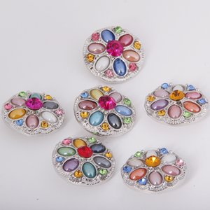 18mm Noosa Métal Gingembre Snap Bouton Charme Strass Cristal Styles Bouton Snaps BRICOLAGE Bijoux NOOSA pince Clips
