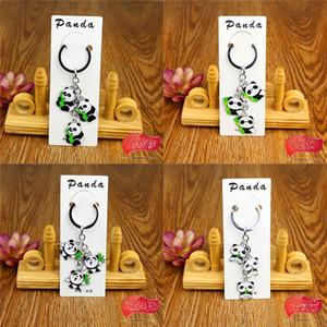 Panda Key Chain Ring Holder - Cute Panda Keychains Keyring para mujeres - Bolso colgante - Zoo Souvenir Kids Gifts
