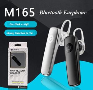 pakcage ZPG056 모든 전화를위한 M165 블루투스 이어폰 무선 스테레오 헤드셋 미니 BT 스피커 Handfree 보편적 인