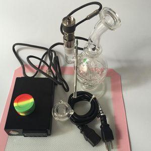 Женский 14 мм совместный ресайклер нефтяные вышки стекло барботер для DIY курильщик ногтей катушки с Ti ногтей стекло Бонг пара воск сухой травы наборы инструментов коврик