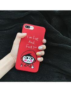 Cute cartoon smiley per Apple iPhone 6S caso iPhone7 7plus cassa del telefono cellulare matte opache coppia dura cassa del telefono