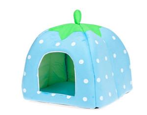 Envío Gratis 2014 Más Nuevo Lindo Encantador Suave Super Fresca Esponja Strawberry Pet Cat Cat House Bed, 1 unids / lote
