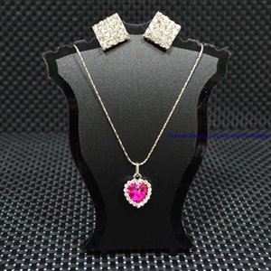 Atacado 12 pcs pequeno acrílico jóias de plástico preto branco claro pescoço busto Mannette colar de pingente de suporte titular Rack Mini tamanho