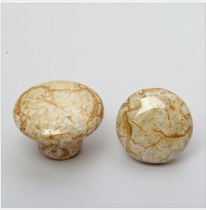 Alta qualidade! Antique cobre vintage rachadura maçaneta da porta de cerâmica / pull / knob, para o armário, cozinha, gaveta, frete grátis # 186
