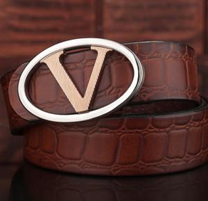 Heiße grüne Farbeluxus-Qualitäts-Entwerfer-Gurt-Art und Weise V-Musterwölbunggurt Mens-Frauen ceinture für Geschenk