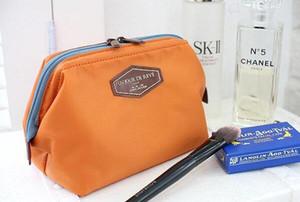 Reisetasche Kosmetiktaschen Aufbewahrungstasche Geldbörse Reise Kosmetiktasche Organizer Handtasche Nylon Dual Zipper Make-up-Taschen