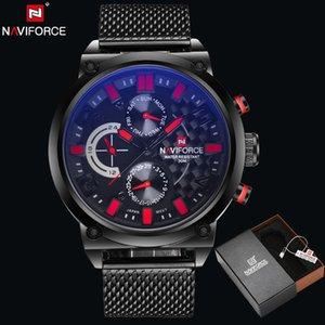 2019 NAVIFORCE New Business Brand Stainless Steel Quartz Wrist Watch Men's Calendar Clocks Sports Military Watches Relogio Masculino