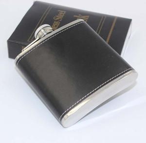 6 oz en acier inoxydable flacon de hanches cadeau créatif en cuir whisky flagon facile à transporter de haute qualité 7 35ls c r