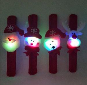Рождество Паттинг Круг Браслет Часы Рождественские Дети Подарок Санта-Клаус Снеговик Олень Новый Год Игрушка Наручные Украшения Кольцо Хлопка