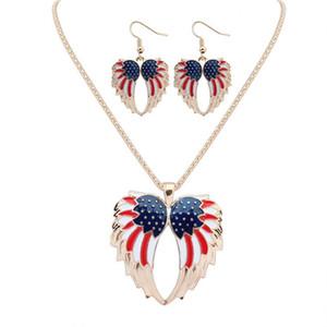 NUOVA Moda Infinity Hawk's wings Ciondolo collane orecchini 18KGP / argento 925 Drip arcobaleno in lega di gioielli set gioielli eleganti per Wom