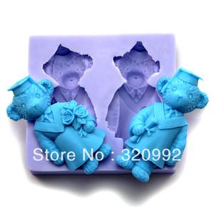 Envío gratis 3D de Silicona Suave de resina Moldes de jabón DIY regalo de navidad molde R1075 Molde Para Jelly Cake Craft molde del molde de la galleta del molde