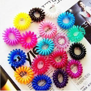 Prerequisites phone ring hair jewelry candy colored hair rope bracelet rubber band Tousheng telephone line FS00083