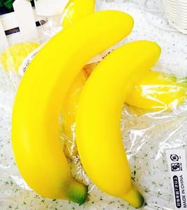 Freies Verschiffen 20pcs-NEU! SOFT SQUISHY Lustiger gelber Bananenhandel boutique weicher Squishy Squishies riesiger Großverkauf billig