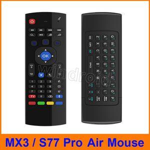 S77 Pro X8 Hava Fly Fare MX3 2.4 GHz Kablosuz Klavye Uzaktan Kumanda Somatosensory IR Öğrenme Android TV Kutusu Için 6 Eksenli MIC, Akıllı IPTV 30