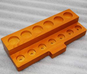 3 Styles Display in legno Standcase Scaffale per scaffali in legno per 30 ml E-Juice Bottiglie e-Liquid RDA atomizzatore 510 810 Puntale a goccia Vape DHL