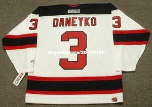 пользовательские мужские Кен DANEYKO Нью-Джерси дьяволы 2003 CCM Главная дешевые ретро хоккей Джерси