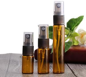 3 ml 5 ml 10 ml botella de spray de color ámbar vacío botella de aceite esencial botellas de aerosol de color marrón ENVÍO RÁPIDO