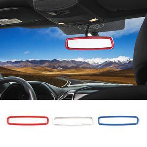 Ford F150 2015-2016 için İç Dikiz Aynası Dekorasyon Halka Trim Araç İç Aksesuar Fit ABS Yüksek Kalite