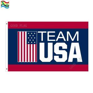 الولايات المتحدة الأمريكية العلم الأولمبية راية الحجم 3x5FT 90 * 150cm مع جروميت المعادن ، العلم في الهواء الطلق