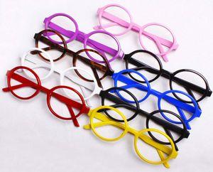 Nueva Llegada Marco de Gafas de Bebé Niños Gafas Decorativas Niños Arale Anteojos Sin Lente Encantador Marco de Plástico Redondo