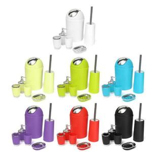 Eco-Friendly Salle de bains Accessoires Bin savon Distributeur Tumbler Brosse à dents Porte-Set de bain de lavage Set de bain Accessoires de rangement
