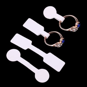 Etiquetas de etiquetas de precios de papel de etiqueta de anillos de joyería, etiquetas de precios, exhibición de paquete de joyas de tarjeta