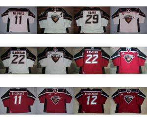Personalizar WHL Vancouver Giants Mens Womens crianças 22 Matt Kassian 12 Adam Courchaine 29 Tristan Grant camisas de hóquei no gelo Goalit Cut