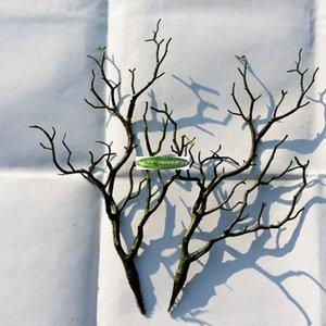 3 قطع 36 سنتيمتر manzanita الجاف الاصطناعي وهمية الخضرة شجرة فرع شجرة الزفاف الكنيسة مكتب أثاث المنزل الأخضر الأبيض الزهور الزخرفية