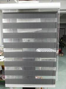 2015 neue maßgeschneiderte Transluzente Roller Zebra Jalousien in dunkelgrau Vorhänge für Wohnzimmer 30 Farben sind verfügbar