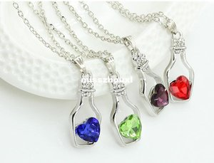 Manufacturers selling Austrian crystal necklace wishing bottles necklace Love bottle Rhinestone Necklace Chain alloy clavicle