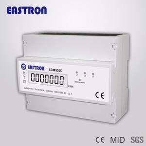 Medidor trifásico da energia do trilho do ruído do fio da venda por atacado-SDM530D, medidor digital da energia de KWH, com LCD Disply e saída do pulso, CE aprovado