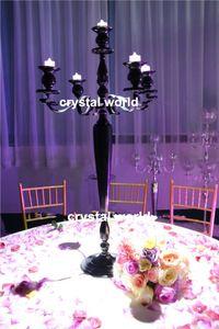 candelabro nero cristallo con fioriera 11112