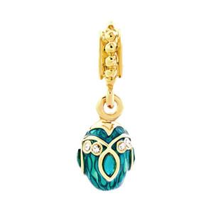 couleur de la main émail oeuf Fabergé Dangle Charms glissière en métal spacer européen charme ajustement bracelet Pandor