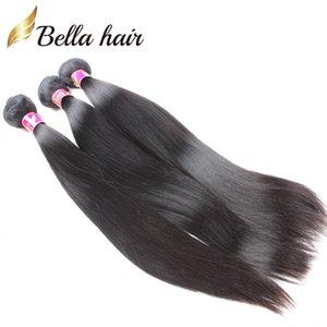 Droit brésilien Virign Cheveux Péruvien Indien malaisienne cambodgienne européenne Weaves Human Hair Extensions Trame 3Pcs Bundles Bella cheveux