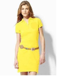 Sıcak 2018 Ücretsiz Kargo 2017 Sıcak 100% Pamuk kadın marka polo Elbiseler Moda kadın Casual Elbiseler kadın polos Beş renkler S-XL