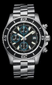 Топ продают высокое качество вахты Самец Clock Мужские кварцевый хронограф Секундомер Человек из нержавеющей стали браслеты часы 29