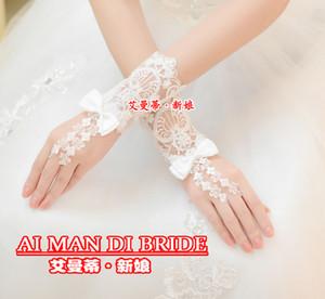 Красивый белый прозрачный кружево без пальцев свадебная перчатка свадебное платье бальное перчатка свадебное платье аксессуары новое поступление 2019