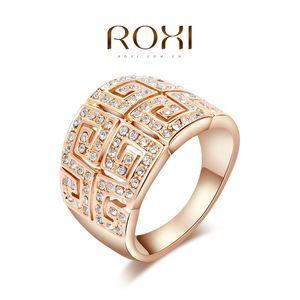 015 ROXI Luxo restaurar anéis, banhado a ouro rosa de alta qualidade fazer com genuínos cristais austríacos, moda jóias, 2010010590