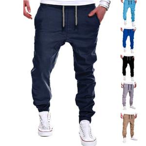 Vente en gros- Pantalon Hommes Solide Couleur Élastique Cross Pantalon de Survêtement Respirant Casual Thin Boy Pantalon Long Pantalon -MX8